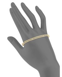 Adriana Orsini - Metallic Two-row Crystal Palm Cuff - Lyst