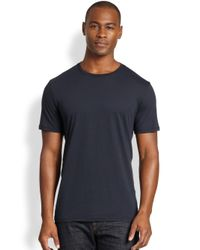 Vince - Blue Crewneck Tee for Men - Lyst