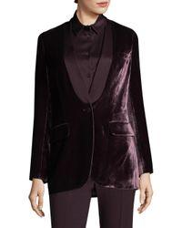 Piazza Sempione - Black Button-front Velvet Jacket - Lyst