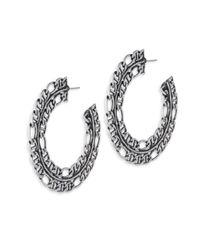 DANNIJO - Metallic Hawk Chain Hoop Earrings/2.5 - Lyst