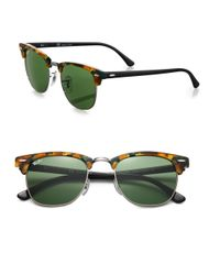 Ray-Ban - Green Iconic Clubmaster Sunglasses - Lyst