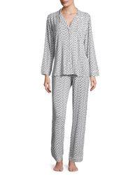 Eberjey - Gray Sleep Chic Pajama Set - Lyst