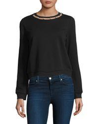 Rebecca Minkoff - Black Pearl Cotton Sweatshirt - Lyst