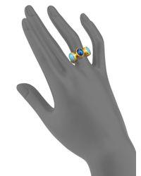 Gurhan - Metallic Amulet Hue Opal, Blue Moonstone & 24k Yellow Gold Ring - Lyst