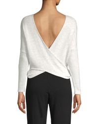 Monrow - White Crossover Open Back Knit Sweater - Lyst