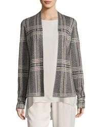 Eileen Fisher - Multicolor Printed Shaped Cardigan - Lyst