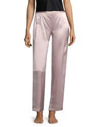 Natori - Pink Silk Pants - Lyst