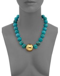 Nest - Blue Beaded Turquoise Necklace - Lyst
