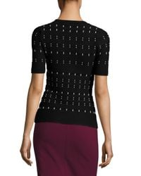 Yigal Azrouël | Black Cord Stitched Top | Lyst