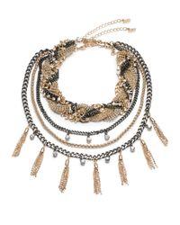 ABS By Allen Schwartz - Metallic Change Of Heart 3-in-1 Necklace - Lyst