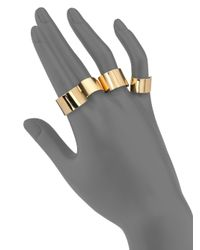 Maison Margiela - Metallic Knuckle Duster Four-band Ring Set/goldtone - Lyst