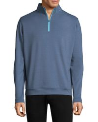 Peter Millar - Blue Half-zip Sweater for Men - Lyst