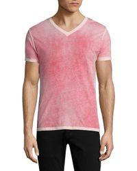 Patrick Assaraf - Pink Alex V-neck Tee for Men - Lyst