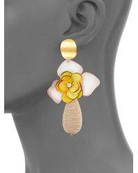 Lizzie Fortunato - Metallic Magnolia Drop Earrings - Lyst