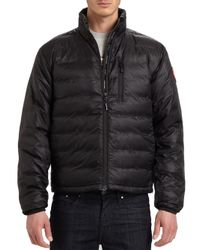 Canada Goose - Black Lodge Down Jacket for Men - Lyst