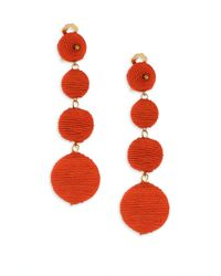 Kenneth Jay Lane | Multicolor Three Matte Ball Clip-on Earrings/coral | Lyst