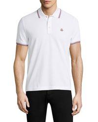 Moncler - White Basic Polo for Men - Lyst