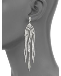 Adriana Orsini - Metallic Lush Cascade Pave Earrings - Lyst