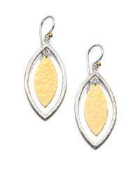 Gurhan - Metallic Willow 24k Yellow Gold & Sterling Silver Marquis Drop Earrings - Lyst
