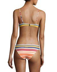 Stella McCartney - Multicolor Stripe Scooped Bikini Top - Lyst