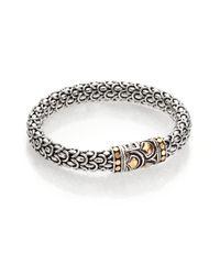 John Hardy - Metallic Naga 18k Yellow Gold & Sterling Silver Chain Bracelet - Lyst