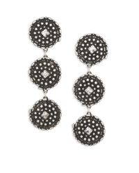 DANNIJO - Metallic Rossi Crystal Drop Earrings - Lyst