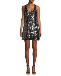 Ramy Brook - Black Cindie Sequin Shift Dress - Lyst