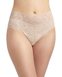 Hanky Panky - Natural Plus Size Retro Lace V-kini Thong - Lyst