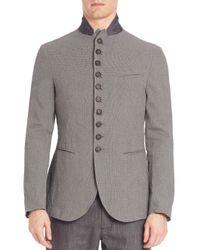 John Varvatos | Gray Slim-fit Convertible Jacket for Men | Lyst