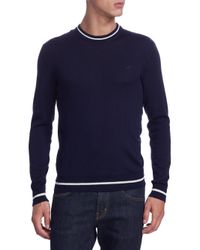 MSGM - Blue Ringer Wool Sweater for Men - Lyst