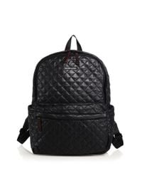 MZ Wallace - Black Metro Quilted Nylon Backpack - Lyst