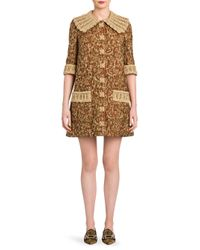 Dolce & Gabbana - Multicolor Jacquard A-line Dress - Lyst
