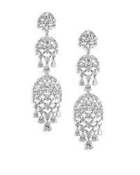 Adriana Orsini - Metallic Pave Drop Chandlier Earrings - Lyst