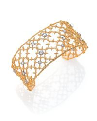 Alexis Bittar | Metallic Elements Gilded Muse Crystal Small Spur Lace Cuff Bracelet | Lyst