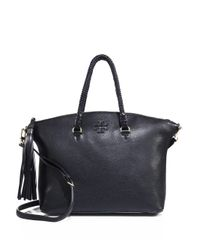 Tory Burch | Black Taylor Leather Satchel | Lyst