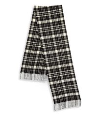 Saks Fifth Avenue - Black Collection By Johnstons Boucle Tartan Scarf for Men - Lyst