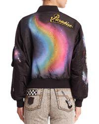 Marc Jacobs - Black Spray Paint Bomber Jacket - Lyst