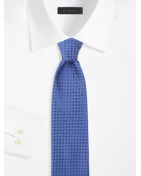 Charvet - Blue Textured Silk Tie for Men - Lyst