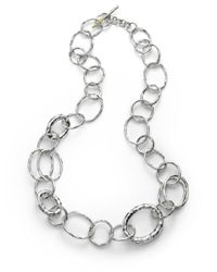 Ippolita - Metallic Glamazon Sterling Silver Bastile Element Short Link Chain Necklace - Lyst
