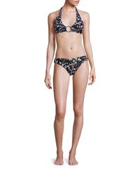 MILLY | Black Barbados Brushstroke Bikini Bottom | Lyst