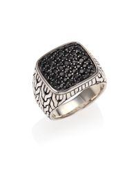 John Hardy - Metallic Sterling Silver & Black Sapphire Ring - Lyst