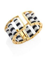 Lele Sadoughi - Metallic Striped Column Slider Bracelet - Lyst