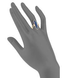 Meira T - Metallic Diamonds, Blue Labradorite & 14k Yellow Gold Ring - Yellow Gold - Lyst