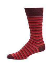Paul Smith - Red Odd Ombre Stripe Socks for Men - Lyst