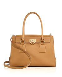 Ferragamo - Natural Lotty Medium Satchel - Lyst
