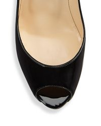 Christian Louboutin - Black Peep-toe Leather Pumps - Lyst