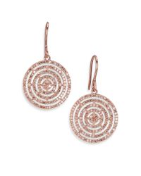 Astley Clarke - Pink Icon Aura Grey Diamond & 14k Rose Gold Drop Earrings - Lyst