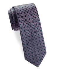 Charvet - Blue Leaf Allover Silk Tie for Men - Lyst