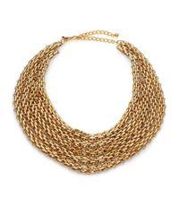 Kenneth Jay Lane - Metallic Multi-row Link Bib Necklace - Lyst