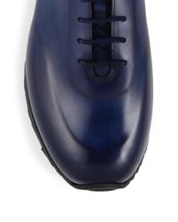 Sutor Mantellassi - Blue Samson Whole Cut Leather Sneakers for Men - Lyst